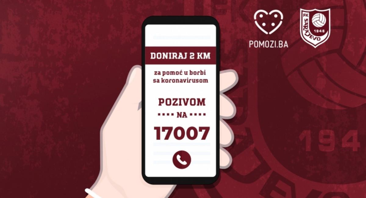 Pozovi 17007 i doniraj 2 KM za pomoć ugroženim uslijed pandemije!