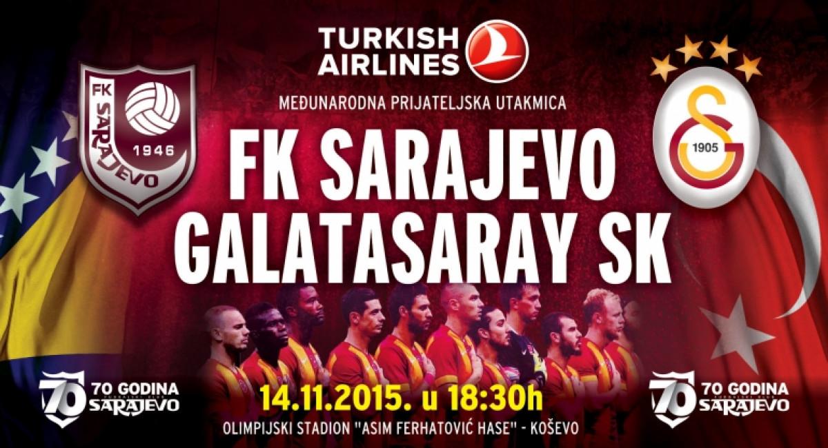 Slavni Galatasaray gostuje na Koševu 14. novembra