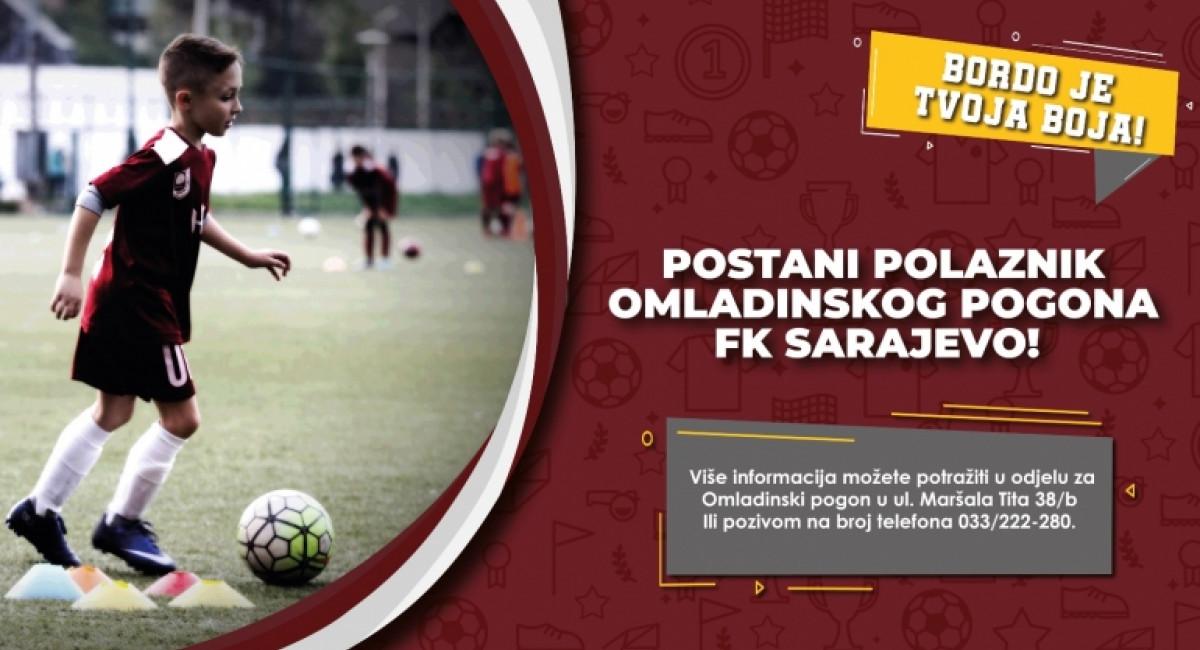 Postani polaznik Omladinskog pogona FK Sarajevo!