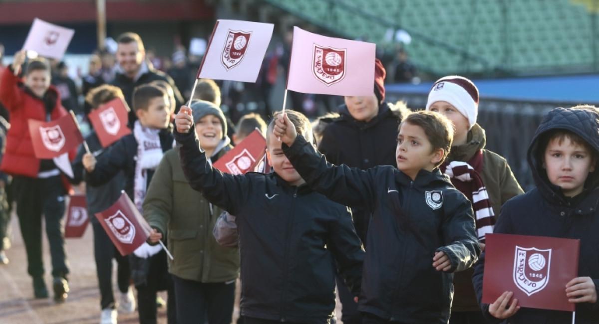 FK Sarajevo na derbiju ugostio mališane iz osam organizacija i škola