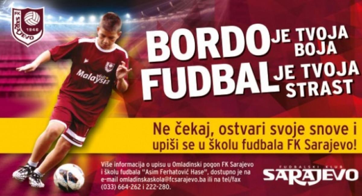 Pogodnije cijene mjesečne članarine u Omladinskom Pogonu FK Sarajevo za određene kategorije stanovništva