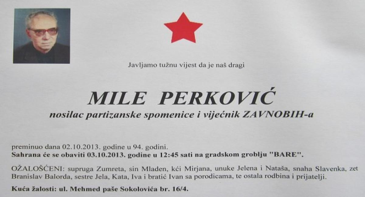 Preminuo bivši Predsjednik FK Sarajevo, Mile Perković.