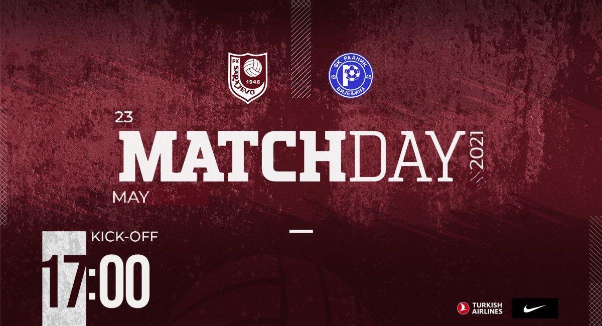 FK Sarajevo danas igra svoju posljednju utakmicu u Premijer ligi ove sezone